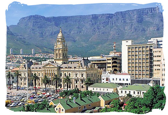 The Grand Parade with the City Hall of Cape Town and the Table Mountain in the back ground - South Africa Government, South Africa Government type