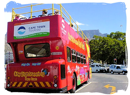 The highly popular Cape Town hop-on hop-off open top sightseeing bus - Cape Town Sightseeing Highlights of the Cape Peninsula South Africa