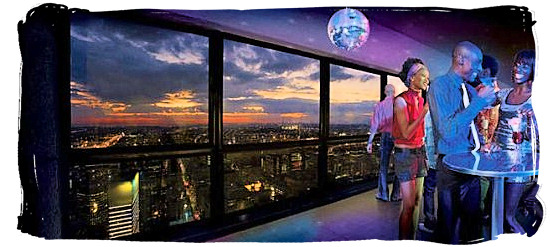 Nightclub and restaurant entertainment on top of the Carlton Centre - City of Johannesburg South Africa Attractions, the Top 15