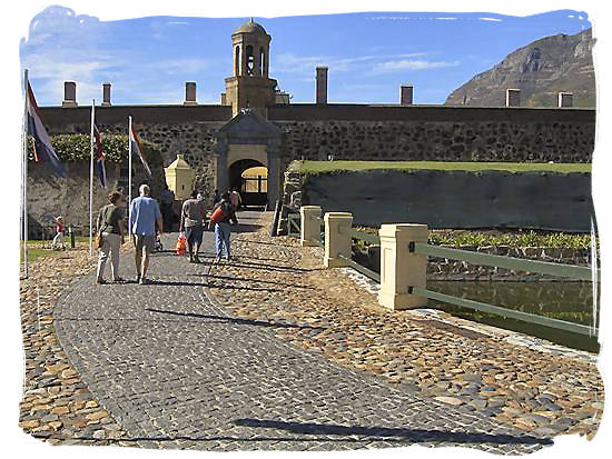 Entrance to the Castle of Good Hope, the oldest stone building in South Africa