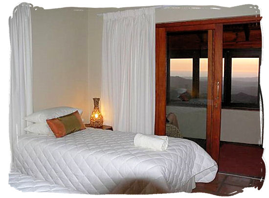 View of the bedroom in the chalets - Namaqualand National Park and the Namaqua flowers spectacle