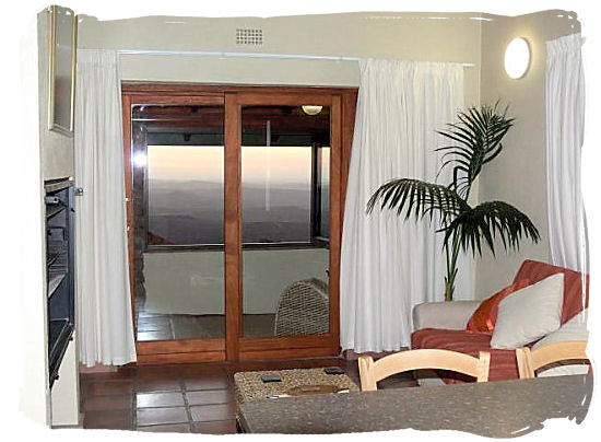 Inside view of the chalets - Namaqualand National Park and the Namaqua flowers spectacle