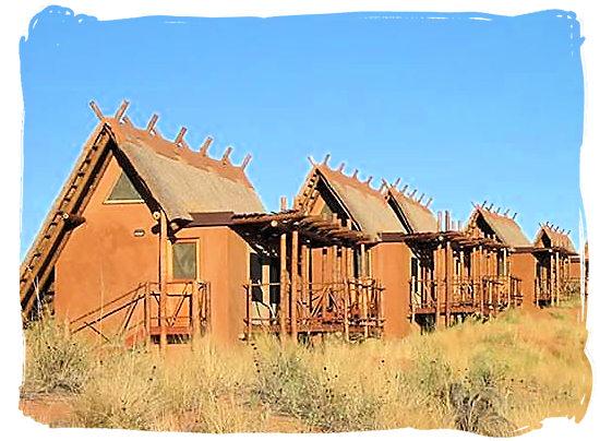 Accommodation units at the Lodge - Kgalagadi Transfrontier Park in the Kalahari