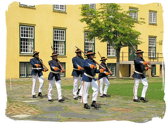 Castle guards on their way to the key ceremony - Castle of Good Hope, Dutch East India Company, Jan van Riebeeck