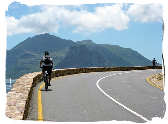 Enjoying the views from Chapman's Peak Drive from a mountain bike - Activity Attractions in Cape Town South Africa and the Cape Peninsula