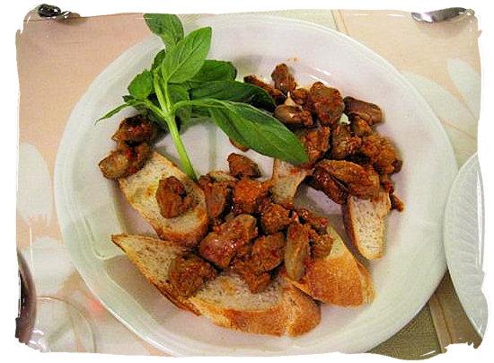 Peri-Peri chicken livers - Portuguese cuisine in South Africa