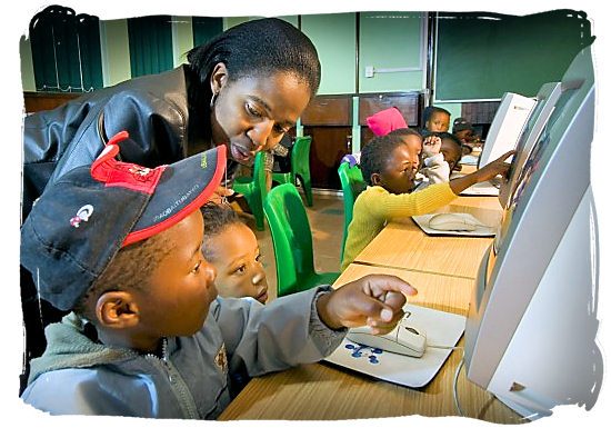 Youngsters getting acquainted with computers - languages of south africa, south african language