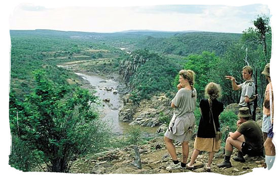 Group of bushwalk party on the Olifants wilderness trail in the Kruger national Park - Letaba main rest camp, Kruger National Park, South Africa