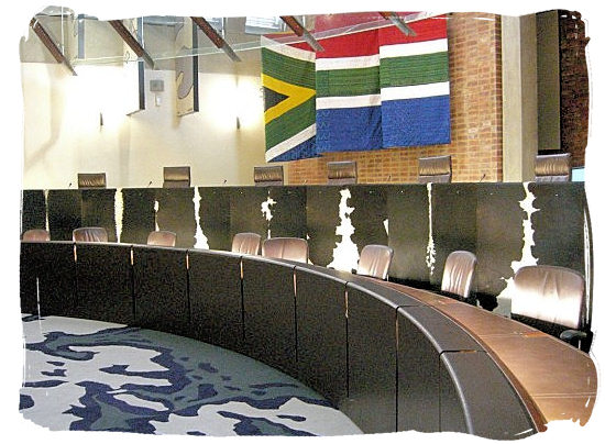 The inside of the Constitutional Court, the highest ranking court in South Africa - City of Johannesburg South Africa Attractions, the Top 15