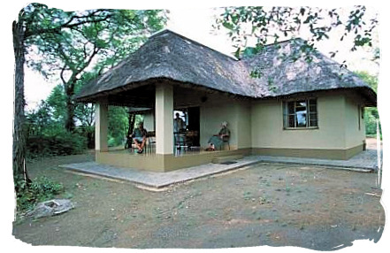 One of the cottages at Sirheni camp - Sirheni Bushveld Camp, Kruger National Park Safari, South Africa