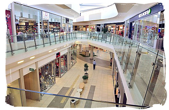 The new Cradlestone Mall in Krugersdorp South Africa