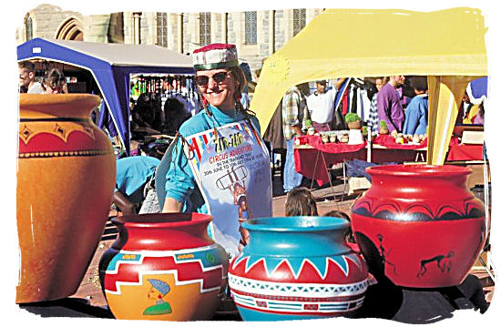 A craft stall at the Grahamstown Festival - Festivals of South Africa
