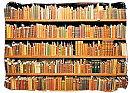 Library full book shelves