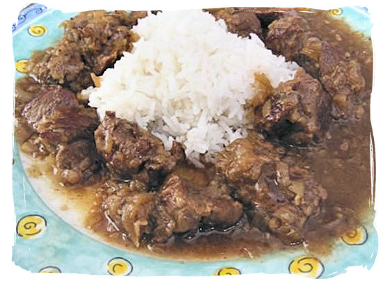 Denningvleis (Denning meat), a delicious Cape malay speciality - Cape Malay cuisine