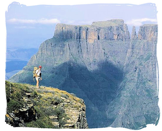 Drakensberg mountain scenery in Kwazulu-Natal