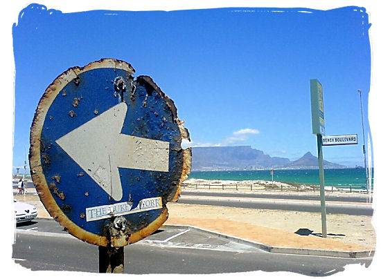 When driving in South Africa one often comes past strange objects like this road sign that has seen heavy times