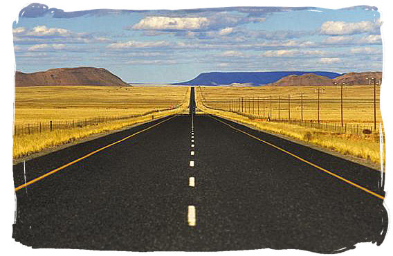Provincial road in the Northern Cape province