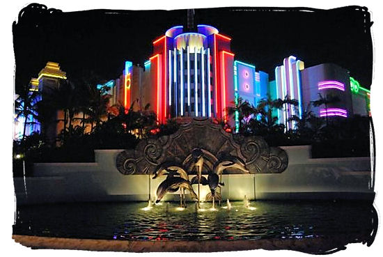 The Sun-coast Casino and Entertainment World on the Golden Mile beachfront in Durban