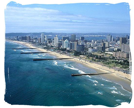 The stunning golden mile Durban beachfront