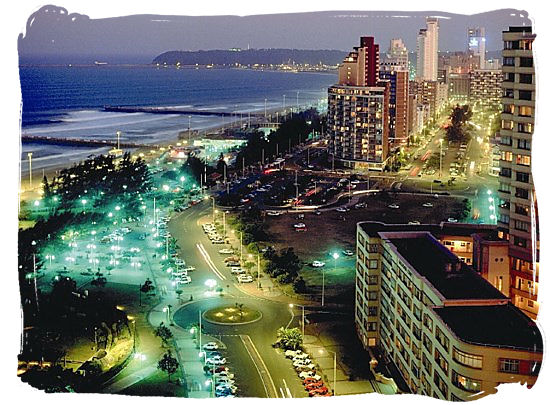 Enjoy the exuberant nightlife along the golden mile beachfront of Durban