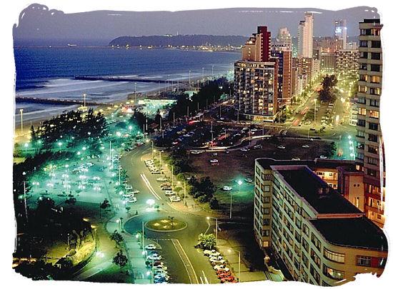 Enjoy the exuberant nightlife along the golden mile beachfront of Durban