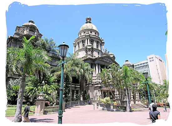 The monumental City Hall of Durban