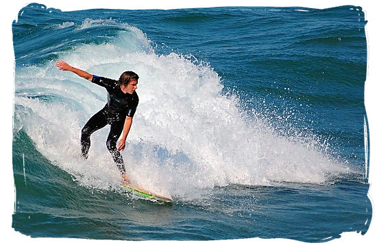 Durban's not known as Surf City for nothing, it's one of the county's top surfing spots