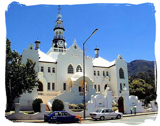 The Dutch reformed church, a historical building in Swellendam
