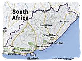Map of the Eastern Cape province, South Africa