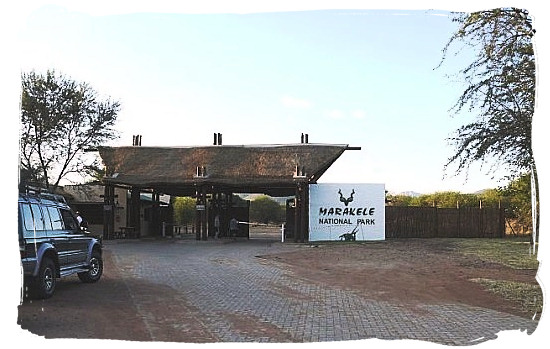 Main entrance gate of the Marakele National Park - Marakele National Park accommodation