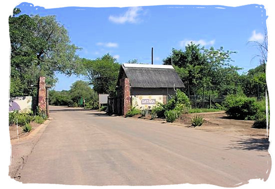 The old entrance gate to the camp - Satara Rest Camp in the Kruger National Park South Africa