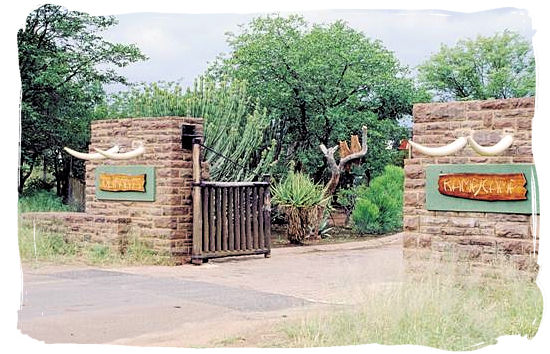 Olifants Restcamp, Kruger National Park, South Africa - Entrance gate to the camp