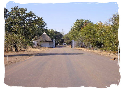 Entrance gate to the camp - Shingwedzi Rest Camp, Kruger National Park, South Africa