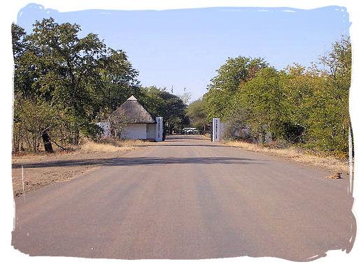 Entrance gate to the camp - Shingwedzi Rest Camp, Kruger National Park, South Africa