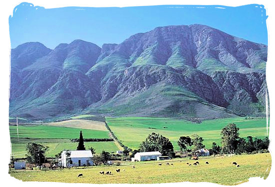 Farm at the foot of the Langeberg mountains not far from Swellendam