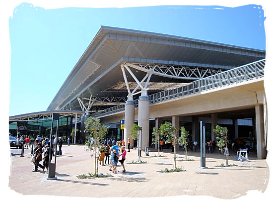Main entrance of the King Shaka International Airport