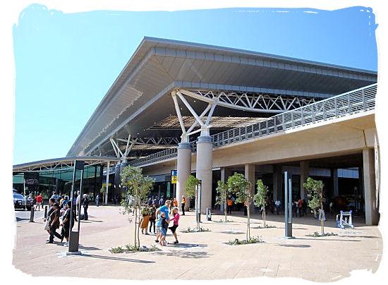Main entrance of the King Shaka International Airport