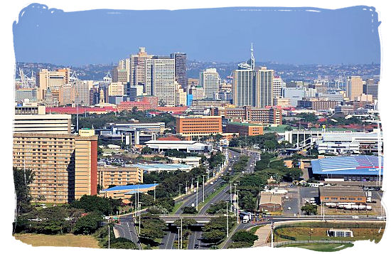 Highway leading into the CBD of the city of Durban