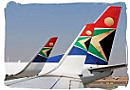 SAA airplanes at O.R.Tambo airport