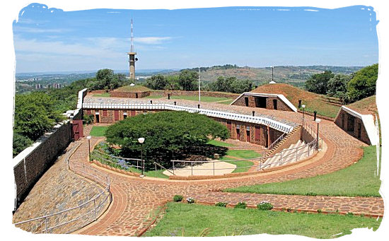 The historical Fort Klapperkop in Pretoria - South African national anthem