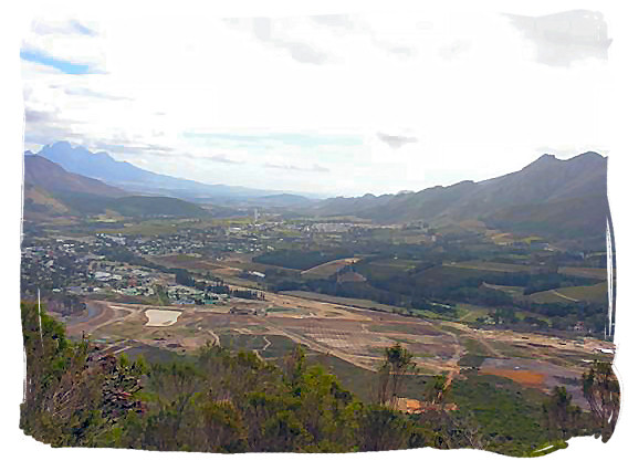 The Franschhoek valley where the French Huguenots settled themselves in 1689 - Jan van Riebeeck and the Cape Colony