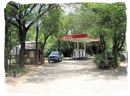 Petrol and diesel refuelling station at Orpen Camp in the Kruger National Park, South Africa