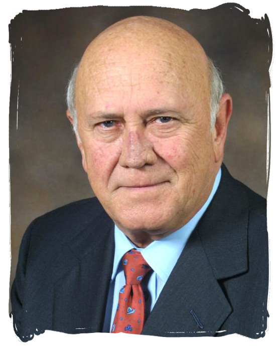 F W de Klerk, State President of South Africa from 1989 till 1994, who ended the apartheid system - History of Apartheid in South Africa
