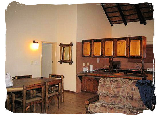 Guest Cottage interior at Letaba - Kruger National Park accommodation