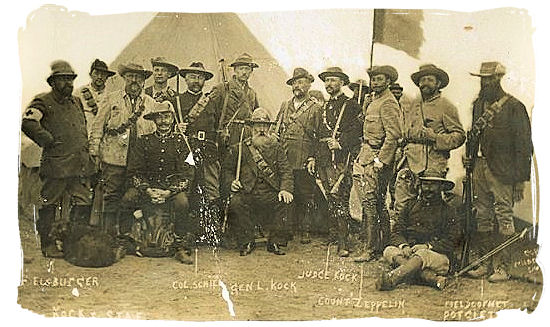 Boer general Johannes Kock and his personal staff at the battle of Elandslaagte - Anglo Boer war battlefields tours in South Africa.