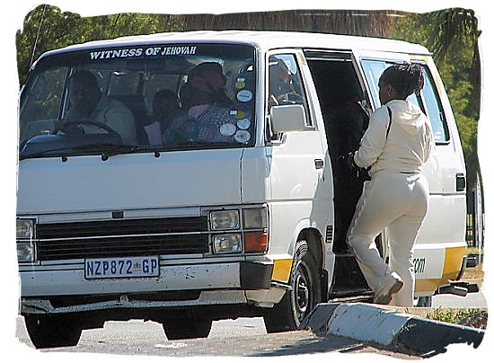 For a more authentically African way of getting around, hop onto a minibus taxi