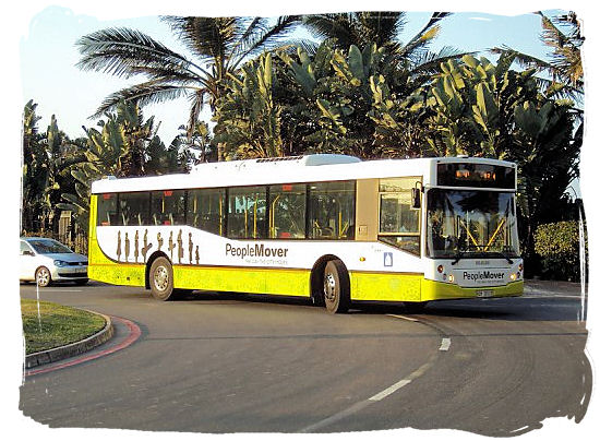 The People Mover, a tourist oriented regular bus service in Durban