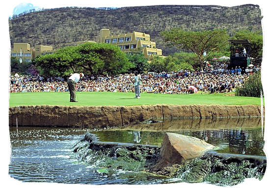 The annual world renowned one million dollar golf tournament at the Sun City resort - Big 3 of South African Sports, South Africa Sports Top Ten