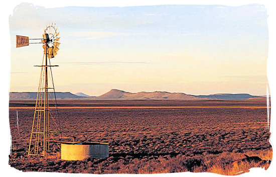 Lonely windmill near the town of Colesberg