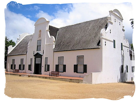 Groot Constantia manor house, a historic Cape Dutch building - Cape Town South Africa wine country, Wine tours in South Africa